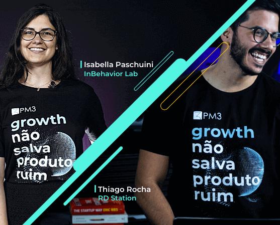 promocao camiseta curso product growth hacking pm3 isabella paschuini thiago rocha rdstation inbehavior lab