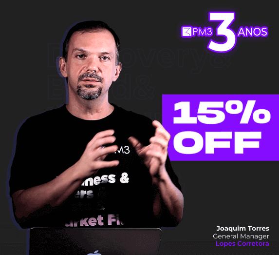 desconto aniversario cursos pm3 15% curso product management product manager gerente de produto produtos digitais