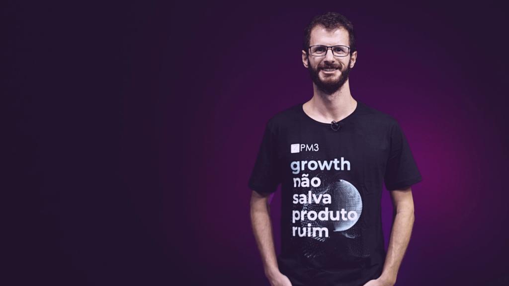 camiseta curso product growth promocao pm3 junho